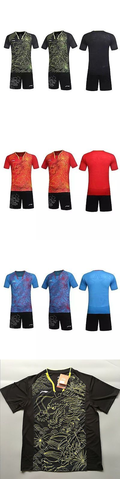 Shirts and Tops 70900: 2016 Rio Olympics Li Ning Mens Tops Table Tennis Clothing T-Shirt + Shorts -> BUY IT NOW ONLY: $31.99 on eBay!