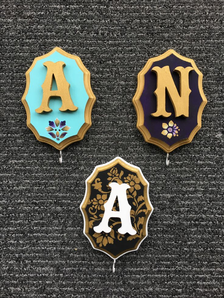 Disney College Program Roommate Gifts - Jasmine, Rapunzel, and Royal Key Hooks