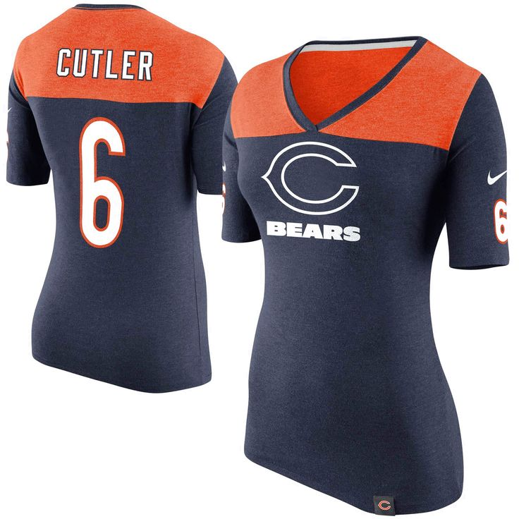 Jay Cutler Chicago Bears Nike Women's Starters Only Name and Number T-Shirt – Navy Blue - $33.24