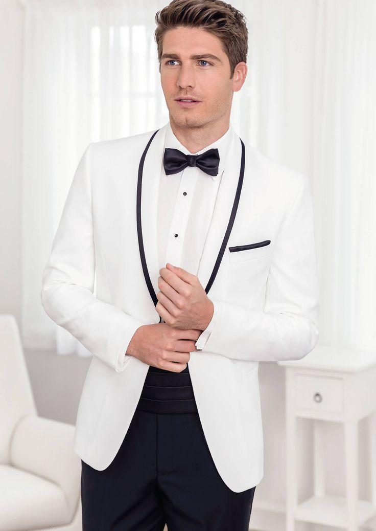 White Spectre One Button Shawl by Savvi - Tuxedos