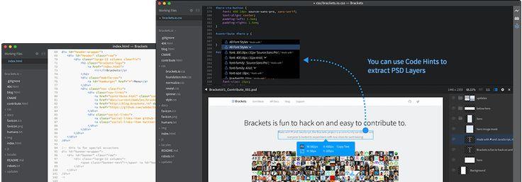 Screenshot of Brackets