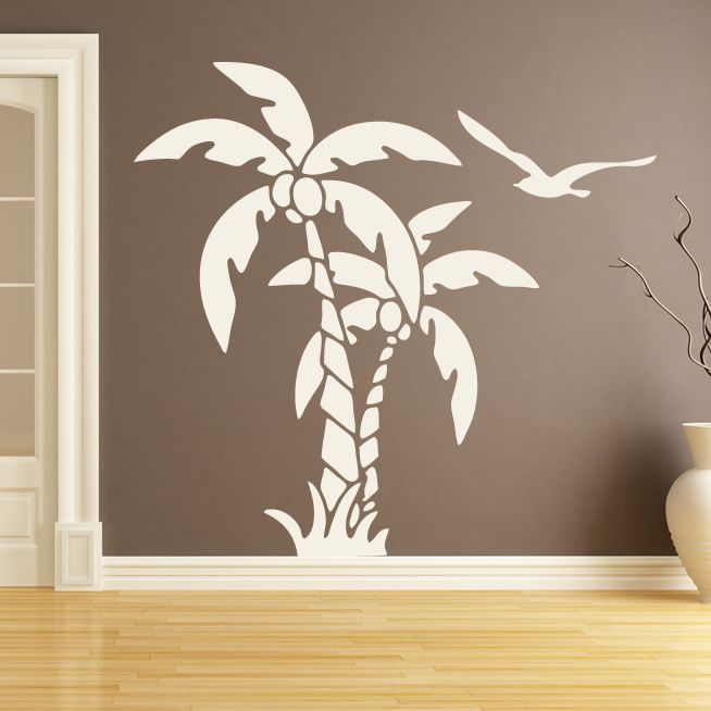palm trees nature at the beach wall art stickers wall decal