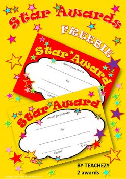 Star Awards Free Resource