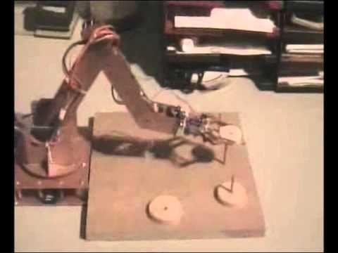 Roboterarm mit RC Servos und inverser Kinematik.