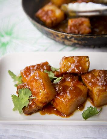 Addictive: Miso-braised pork belly.
