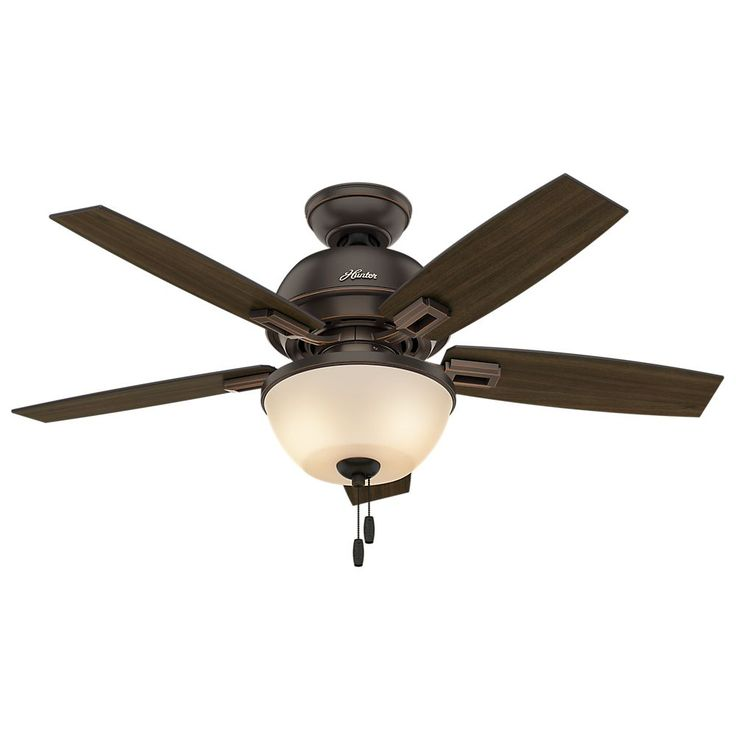 Combine this whisper-quiet ceiling fan with the light kit to enjoy soothing illumination and refreshing air movement in your living room. The convenient pull chain allows for easy speed adjustment and