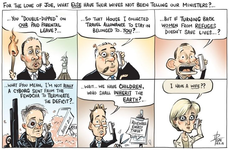LIBERALS/NATIONALS HAVE A GLIMPSE OF WHO THEY ARE What a bunch.................. Cartoon by DAVID POPE.