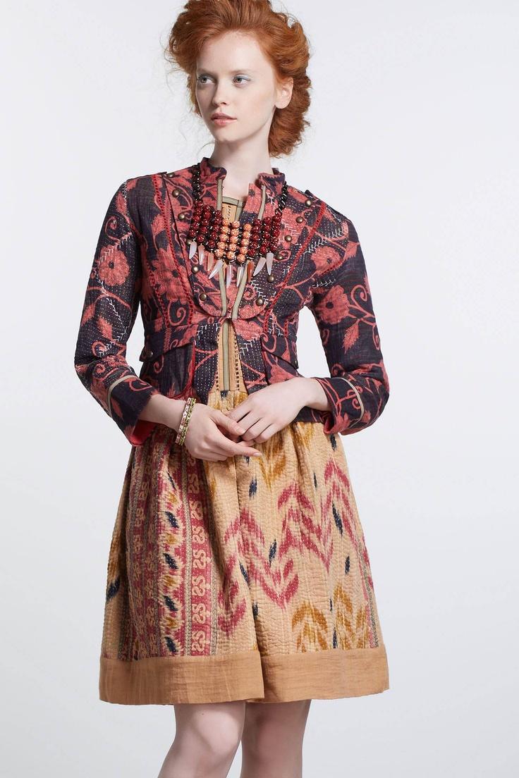 #fallfaves Anthropologie Odissi Vintage Kantha Jacket. $298. @Anthropologie .