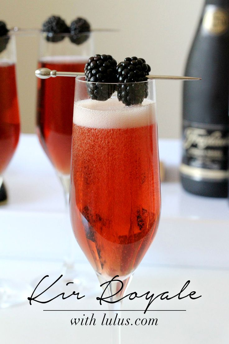 Kir Royale Cocktail Recipe at LuLus.com!