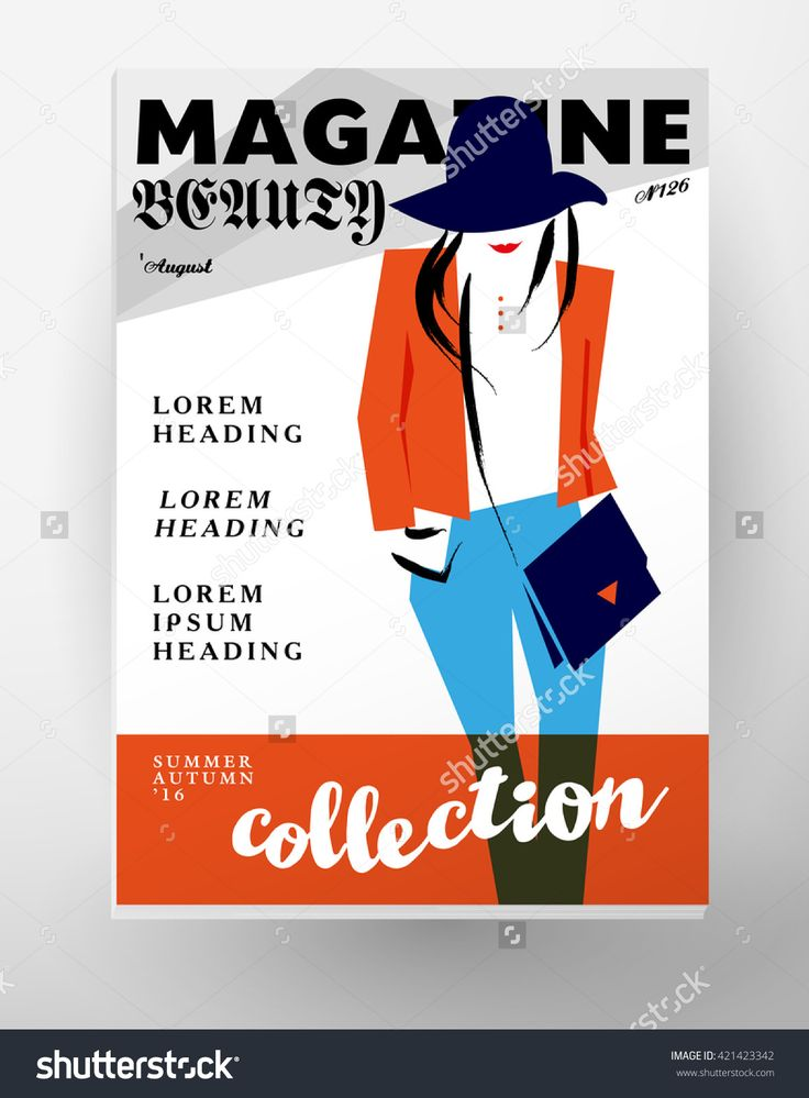 Vector fashion cards template. Beauty invitation, leaflet, poster, placard, banner, advertising design. Hand drawn lady artistic sketch. Woman in hat. Fashion young stylish girl portrait.