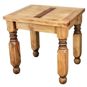 The hand carved legs of this Lyon end table provide sturdy support as well as style. Perfect for next to a bed or sofa; pair it with one of our rustic Lyon headboards or coffee tables. The exterior of distressed solid pine creates a southwestern style that goes well with most other furniture designs. You'll appreciate the fine Mexican craftsmanship.