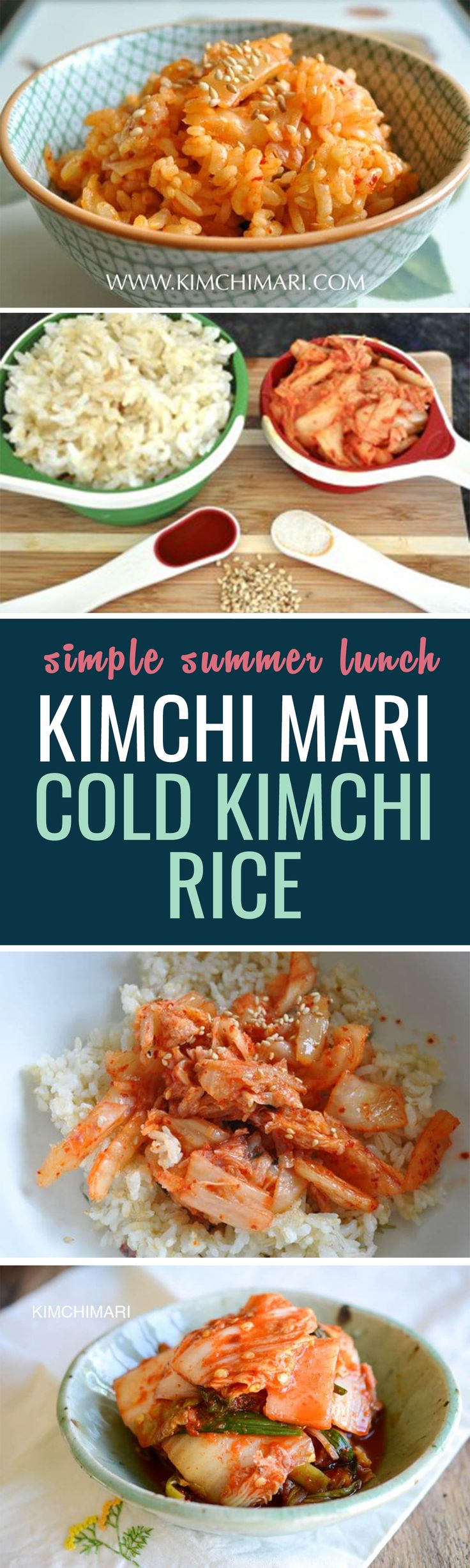 I LOVE how easy this is to make and how light and refreshing it is. I used to make this all the time when I lived in Korea. And thus, this now inspired me to name my blog domain – Kimchimari.com!