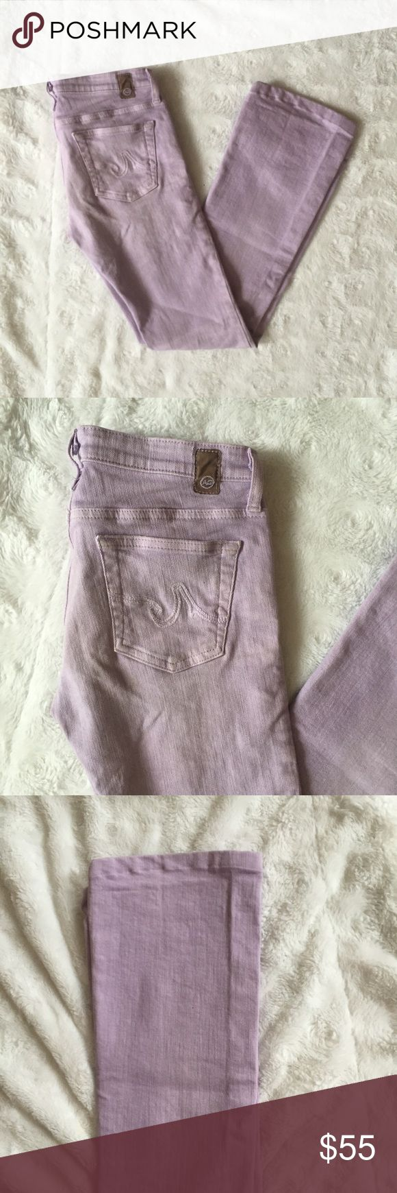 AG Adriano Goldschmied The Angel Lavender Jeans AG Adriano Goldschmied The Angel Lavender Jeans size 26R Bootcut jeans AG Adriano Goldschmied Jeans Boot Cut