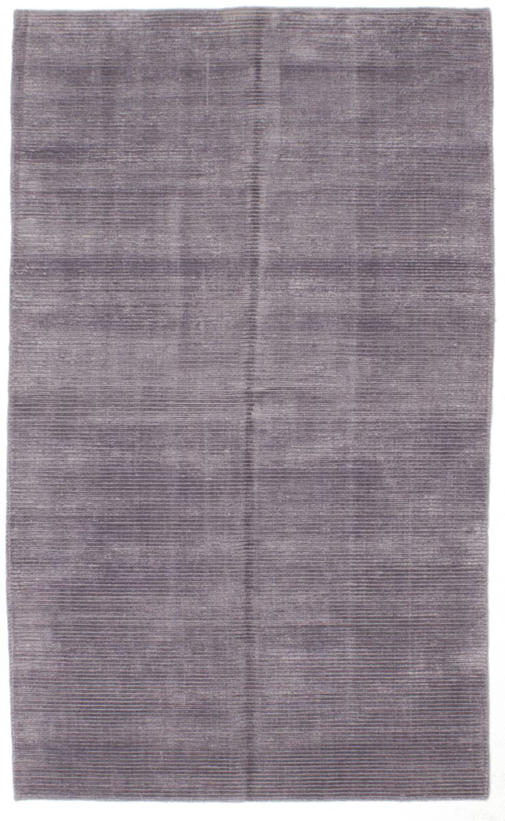 Hand Knotted Shimmer Light Purple Silk Rug