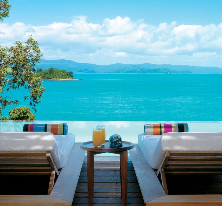 Relax in sun chairs and enjoy the spectacular views