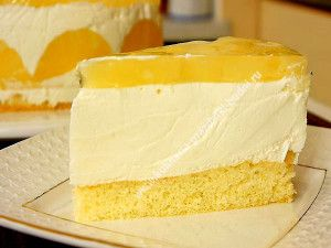Йогуртовый торт с фруктами рецепт