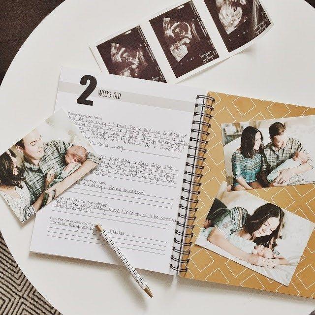 Modern hardcover book documenting baby's first year   – Montgomery Xavier.