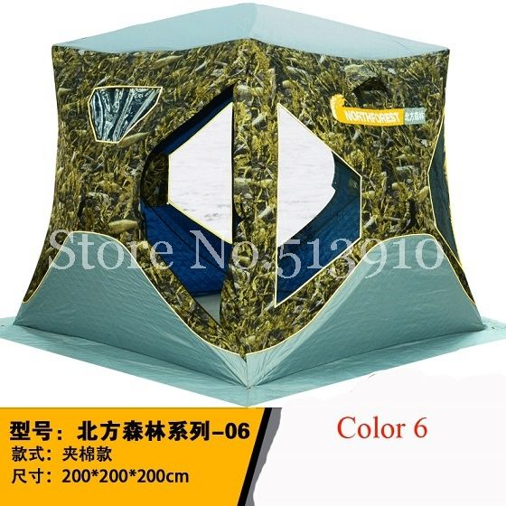 186.54$  Watch here - http://alitry.worldwells.pw/go.php?t=32750884285 - 2016New arrival large space 3-4 people ice fishing tent with warm oxford quilted winter cotton tent automatic speed outdoor tent 186.54$