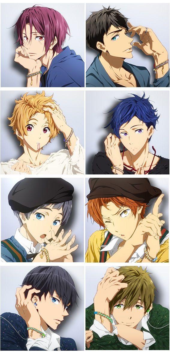 Free! Eternal Summer - Characters Mook vol.1 Rin & Sousuke - Characters Mook vol.2 Nagisa & Rei - Characters Mook vol.3 Aiichirou & Momotarou - Characters Mook vol.4 Haruka & Makoto