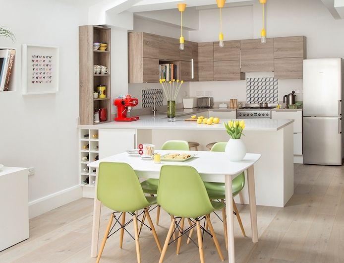 The 25+ best Cuisine blanche et bois ideas on Pinterest   Compteur ...