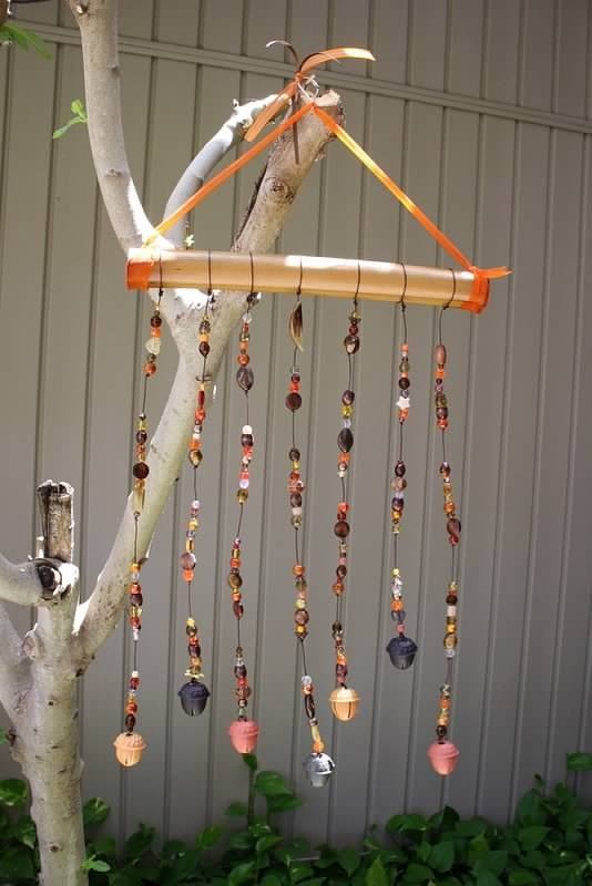 """Harvest"" bamboo wind chime  $20"