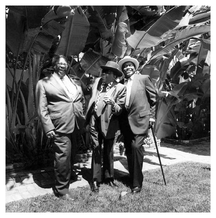 .B.B. King, John Lee Hooker and Willie Dixon, Los Angeles, CA 1991.