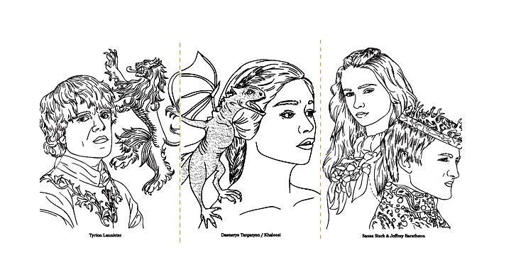 free coloring page coloringadultgameofthronesdessin