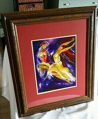 Paso Doble - Dancing Couple - by Ruth Porat Ltd. Ed. Signed and Numbered 53-150
