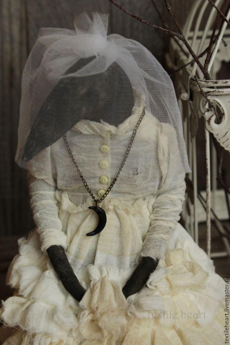 Купить Моргана. - белый, ворона, чердачная кукла, чердачные игрушки, ведьма, страшные куклы, птица