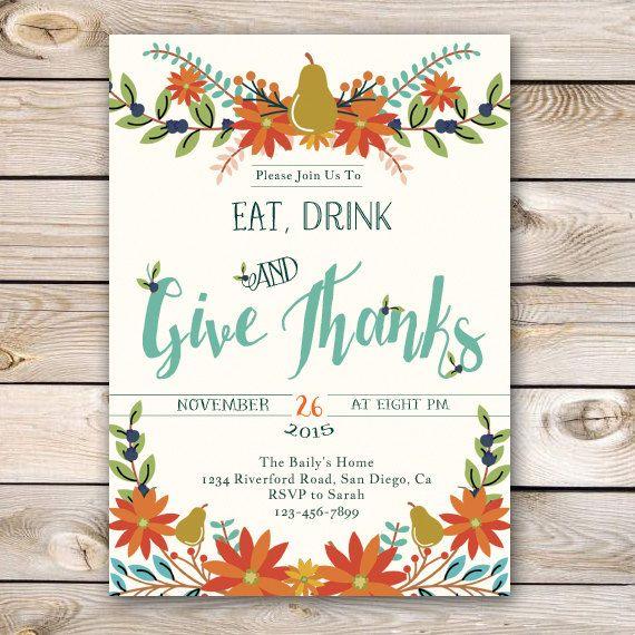 Best 25+ Thanksgiving invitation ideas on Pinterest ...