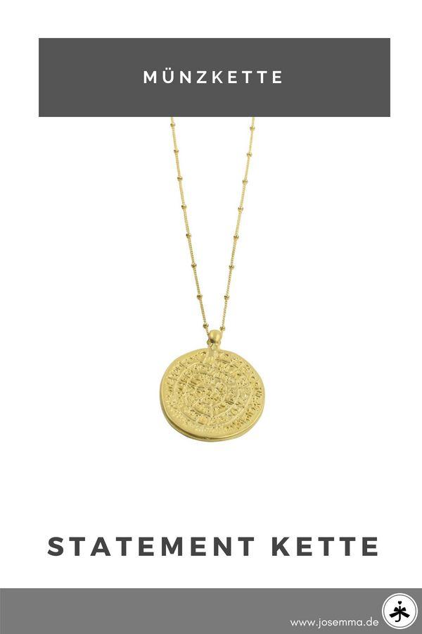 ea1c9bb23567 vergoldete Münzkette   Josemma Onlineshop   Pinterest   Gold, Festival  fashion und Schmuck