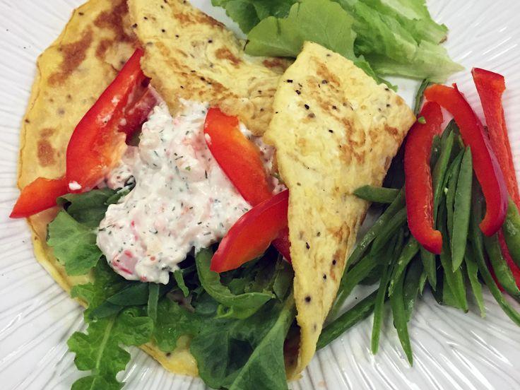 Omelettwrap med skagenröra | Recept från Köket.se