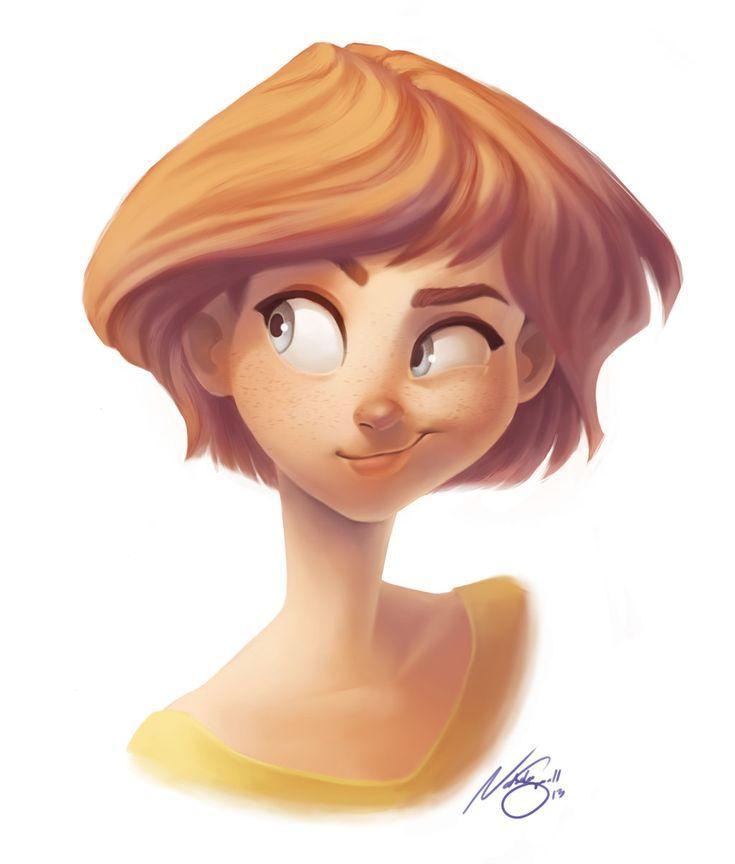 Cartoon Characters With Short Hair : Smirk by natsmall viantart on deviantart digital