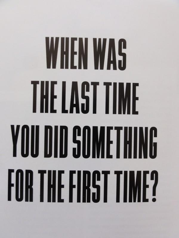 Dat is lang geleden, daarom inspireert dit me dat ik echt weer iets moet doen wat de eerste keer is