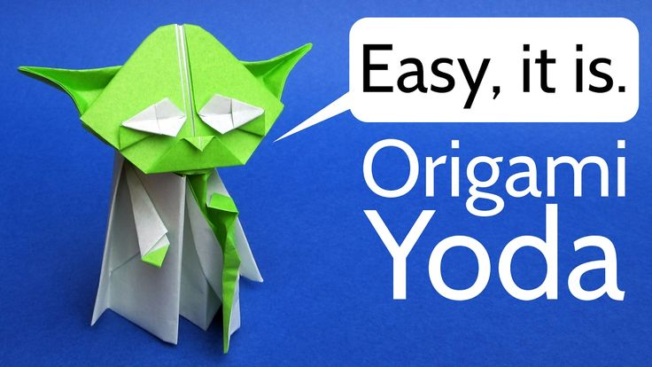 How to Make an Origami Master Yoda, Darth Vader, and a Stormtrooper