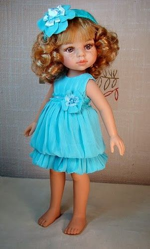 Blue dress for Paola Reina doll