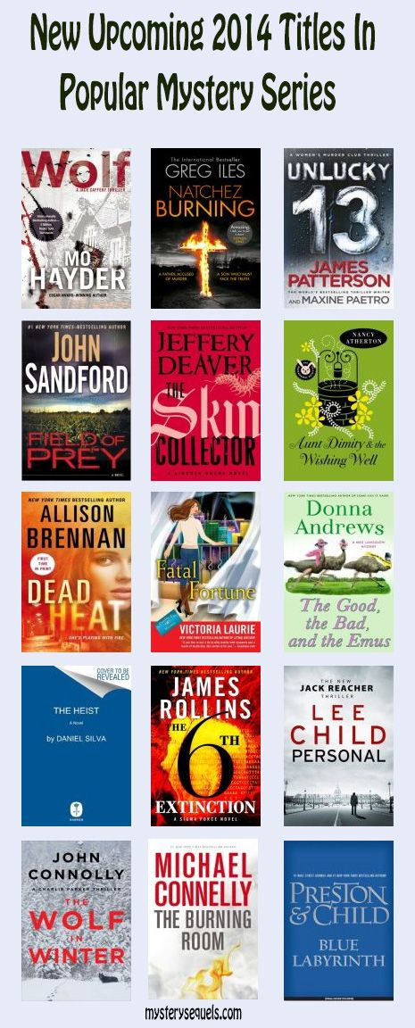 new mystery books published in 2014 in popular mystery, cozy and thriller series