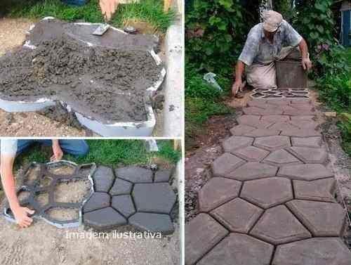 forma para piso jardim para concreto - alumínio                                                                                                                                                                                 Mais