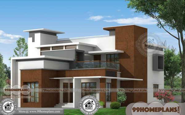 Box House With Double Floor Modern Contemporary Best Collections Free Indian House Plans House Architecture Styles Kerala House Design