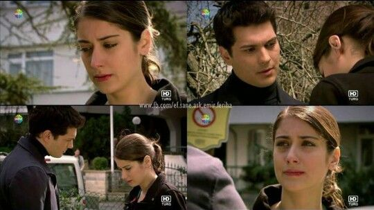 Emir: Now, you must to answer me, Feriha! Or you'll accept what happened between us, or you'll ignore all. Feriha: Emir, please, go!.. Emir: I'm not going! Gitmiyorum Feriha! I came your way, i came your house! You're right, but i want any answer. Why do you do as nothing was happened?! Feriha: Emir, because, i can't! Emir: What you can't do, Feriha? You're esclaping from me? Why? Why? Because you know that as though i'm playboy? for this? Feriha: No..It's not about you..  Emir: Ok, but…