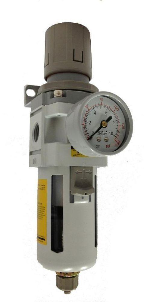 "PneumaticPlus Compressed Air Filter Regulator 1/2"" NPT #PneumaticPlus"