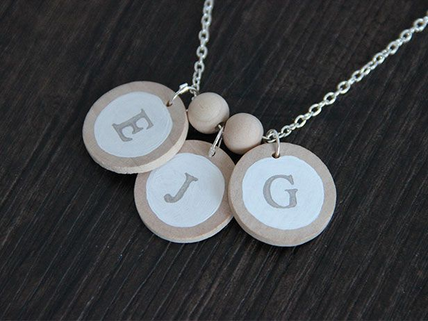 Quick Gift for Mom: Make an Initial Necklace >> http://blog.diynetwork.com/maderemade/how-to/how-to-make-an-initial-necklace-for-mothers-day/?soc=pinterestBirthday