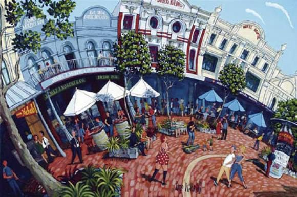Cuba Street Cool by Timo for Sale - New Zealand Art Prints