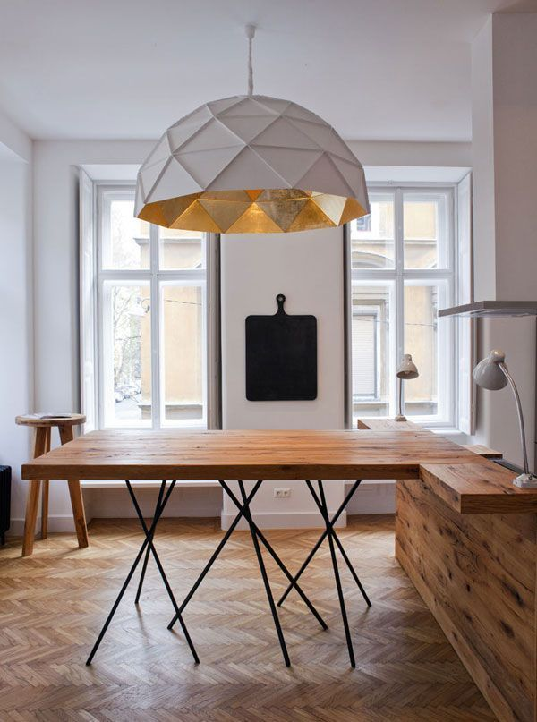Cool Geometric Lamp Shade I Thinf Its Possible DIY Home Decor Obsession