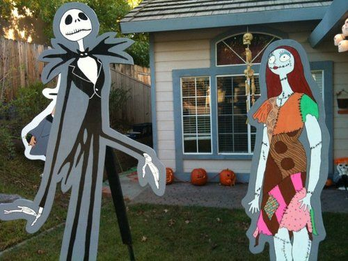Nightmare Before Christmas Halloween Lawn Decorations Sally Jack Zero ...