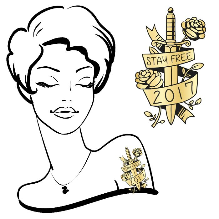 Stay Free 2017 Tattoo#56 (4pack) *FREE SHIPPING* If you're buying tattoos only we would like to offer you Free Shipping. Use the discount code:SHIPFREEat the...