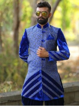 Blue Color Sherwani