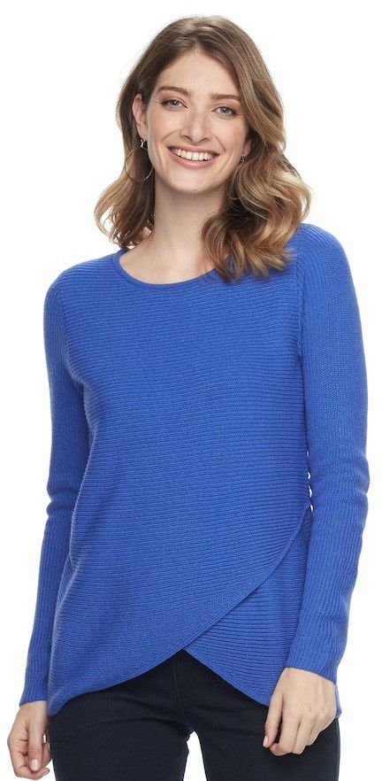 Croft & Barrow Women's Tulip Hem Sweater