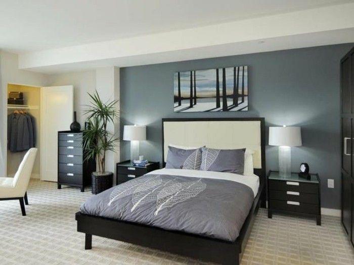 Wunderschones Schlafzimmer Farbe Petrol Und Und Grau