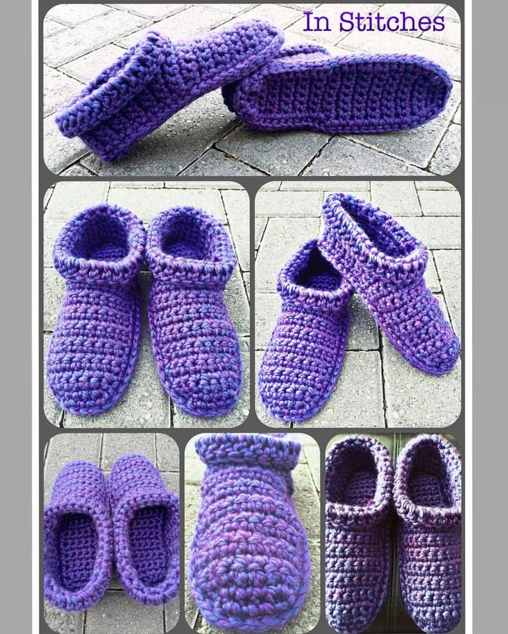 "22 Likes, 7 Comments - Stacey L (@inslstitches) on Instagram: ""Comfy Cozy Ankle Cuff House Slippers in a beautiful purple 💜 (Photos can't quite capture it...)…"""